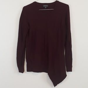 The Limited purple uneven hem sweater top